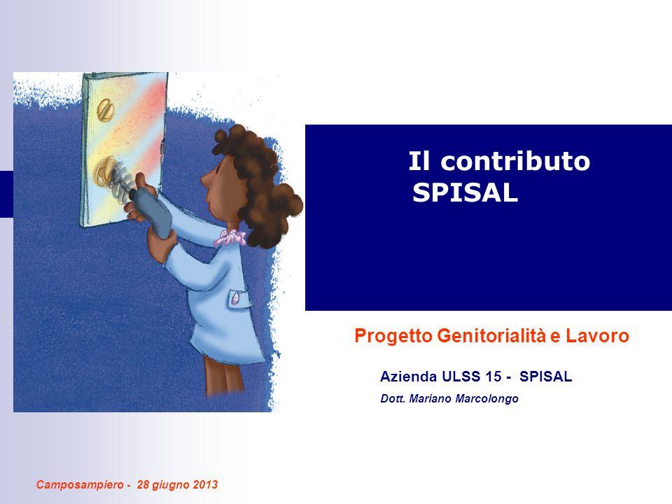 Il contributo SPISAL Progetto Genitorialità e Lavoro Azienda ULSS 15 - SPISAL Dott.