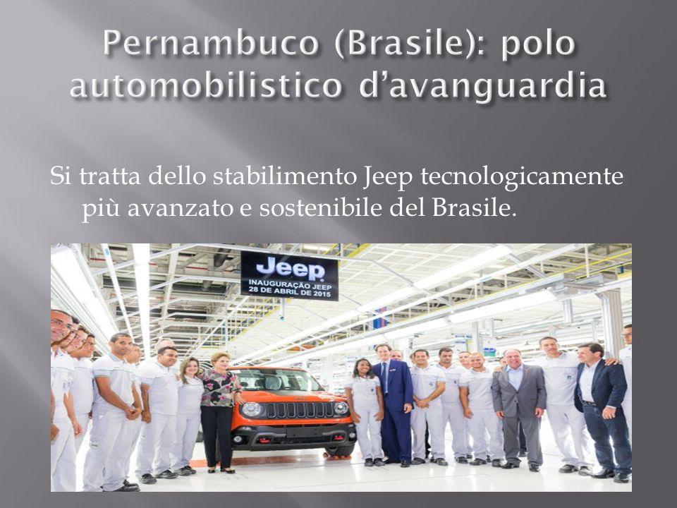 Si tratta dello stabilimento Jeep tecnologicamente più avanzato e sostenibile del Brasile.