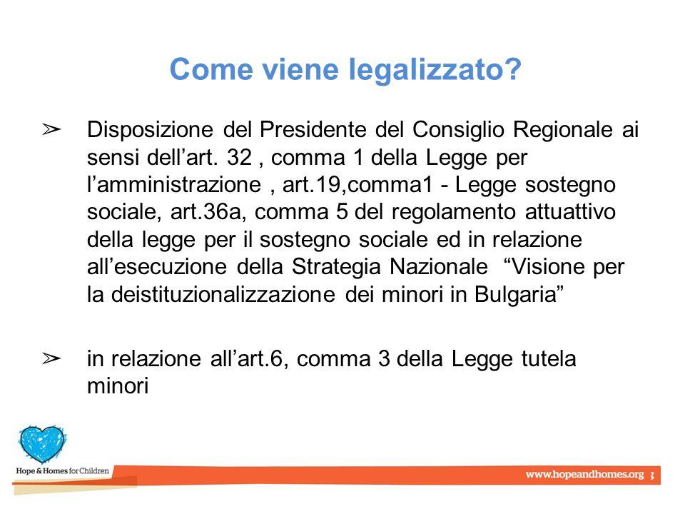 Come viene legalizzato. ➢ Disposizione del Presidente del Consiglio Regionale ai sensi dell'art.