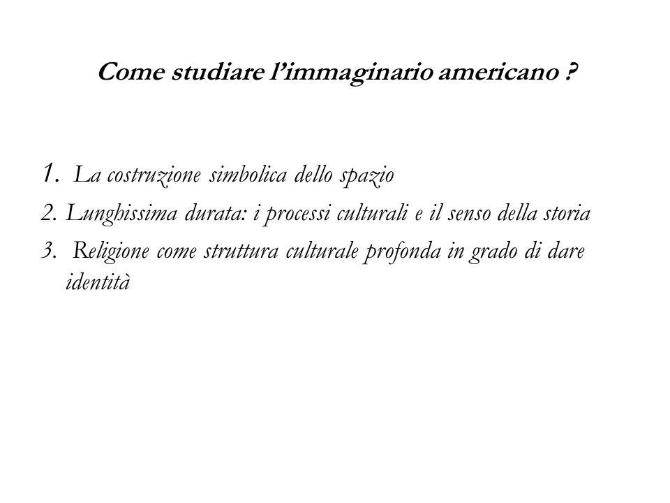 Come studiare l'immaginario americano .1.