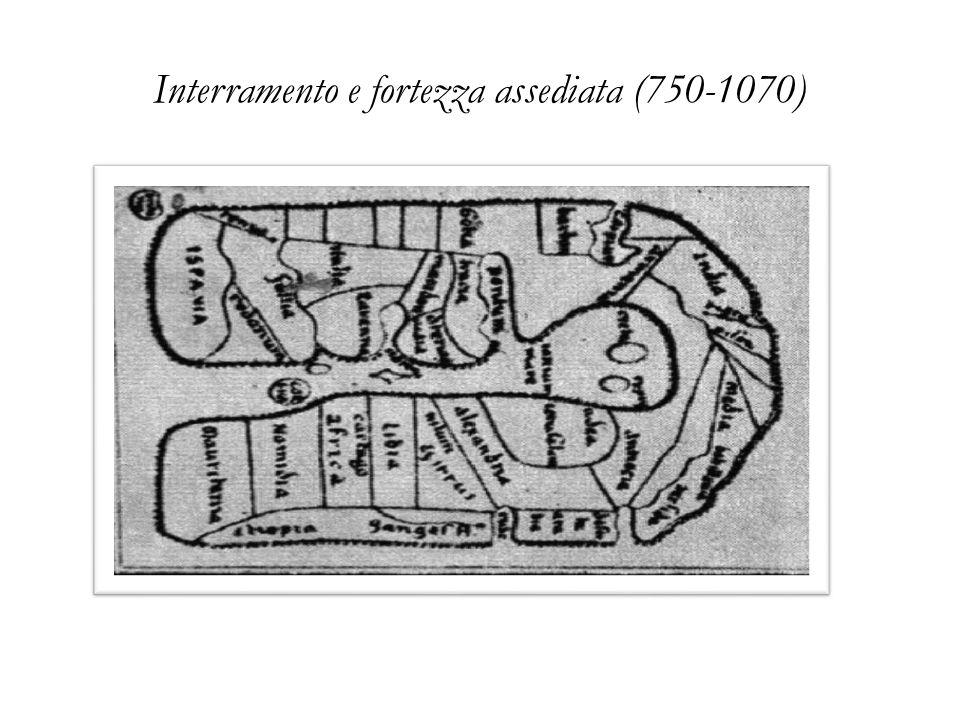 Interramento e fortezza assediata (750-1070) Mappamondo merovingio dell'VIII° secolo (750 c.)