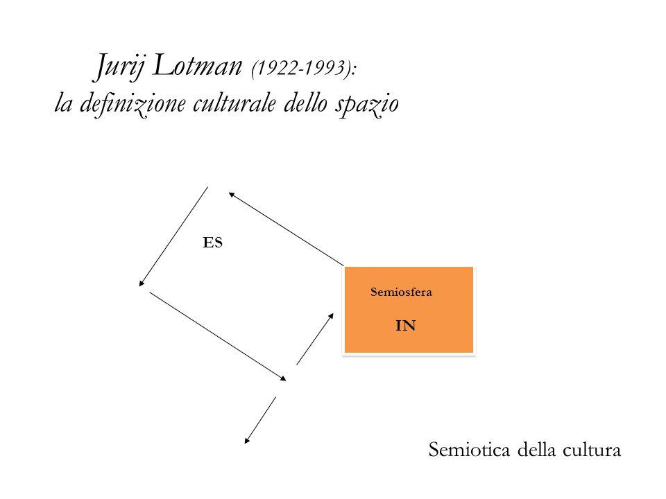 Jurij Lotman (1922-1993): la definizione culturale dello spazio IN Semiosfera ES Semiotica della cultura