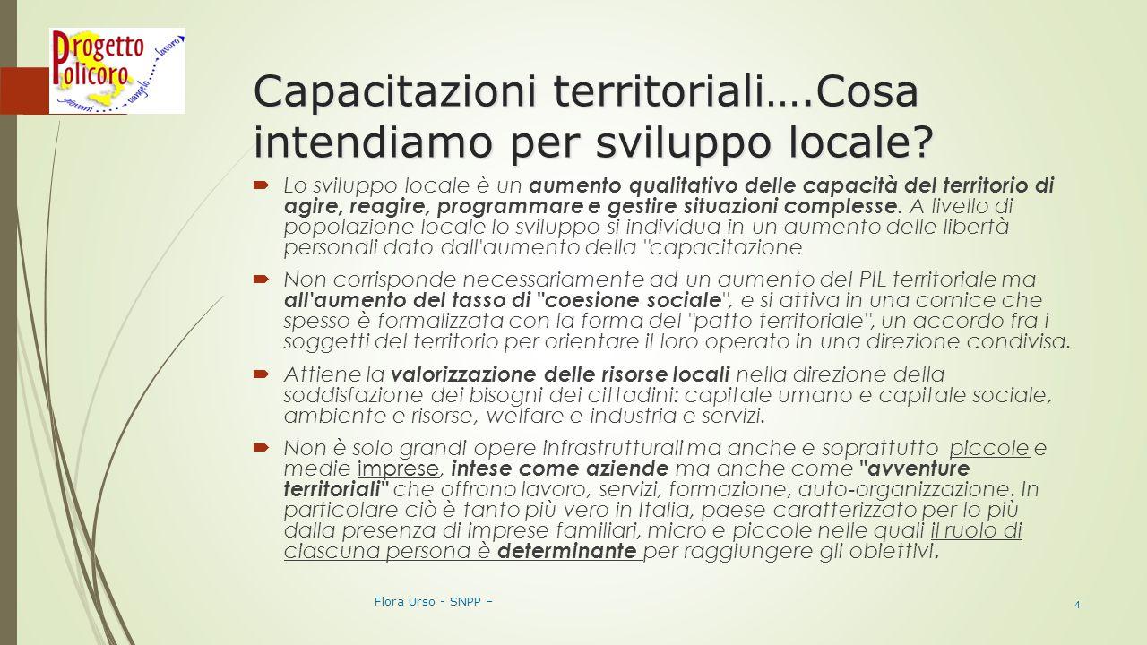 Capacitazioni territoriali….Cosa intendiamo per sviluppo locale.