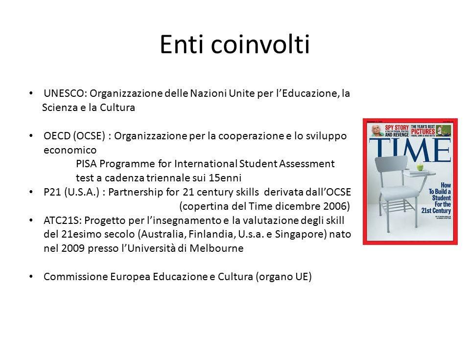 Enti coinvolti UNESCO: Organizzazione delle Nazioni Unite per l'Educazione, la Scienza e la Cultura OECD (OCSE) : Organizzazione per la cooperazione e