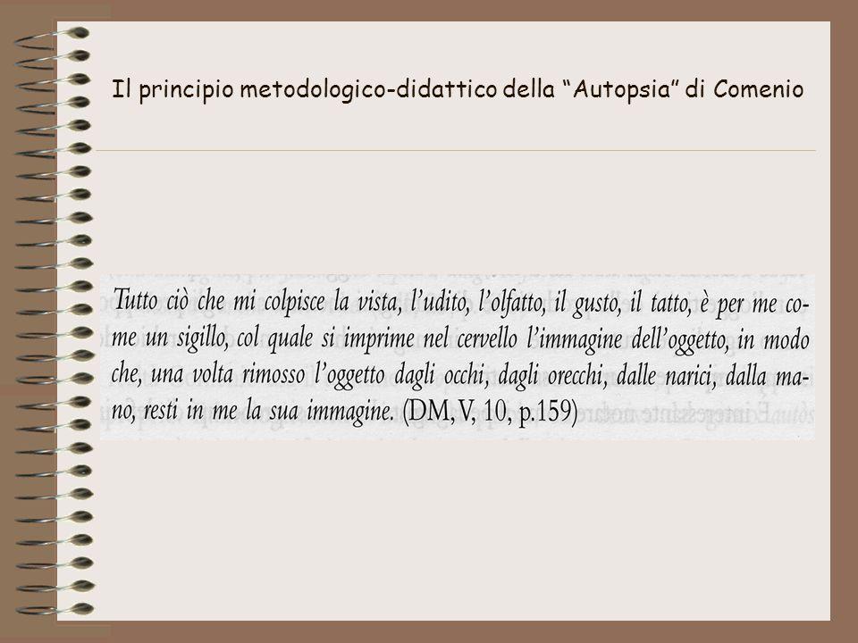 """Il principio metodologico-didattico della """"Autopsia"""" di Comenio"""