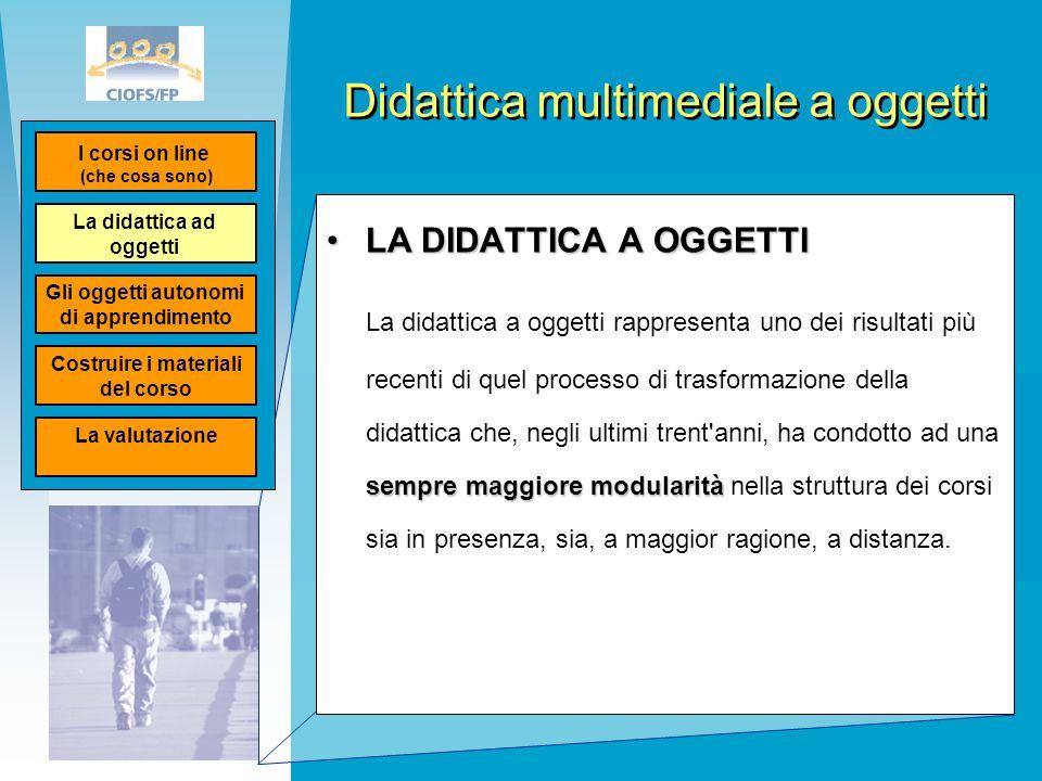 Didattica multimediale a oggetti LA DIDATTICA A OGGETTILA DIDATTICA A OGGETTI sempre maggiore modularità La didattica a oggetti rappresenta uno dei ri