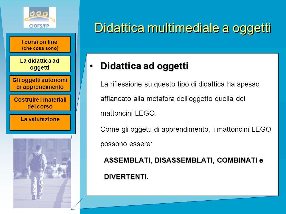 Didattica multimediale a oggetti Didattica ad oggettiDidattica ad oggetti La riflessione su questo tipo di didattica ha spesso affiancato alla metafor