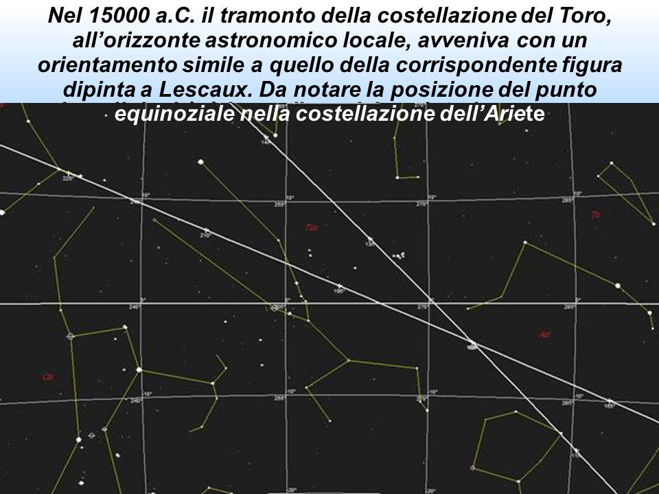 """Grotta di Lescaux, Il """"Cosmos"""" come ordine: la costellazione del Toro e la sua rappresentazione Alcuni studiosi sostengono la tesi che le raffigurazio"""