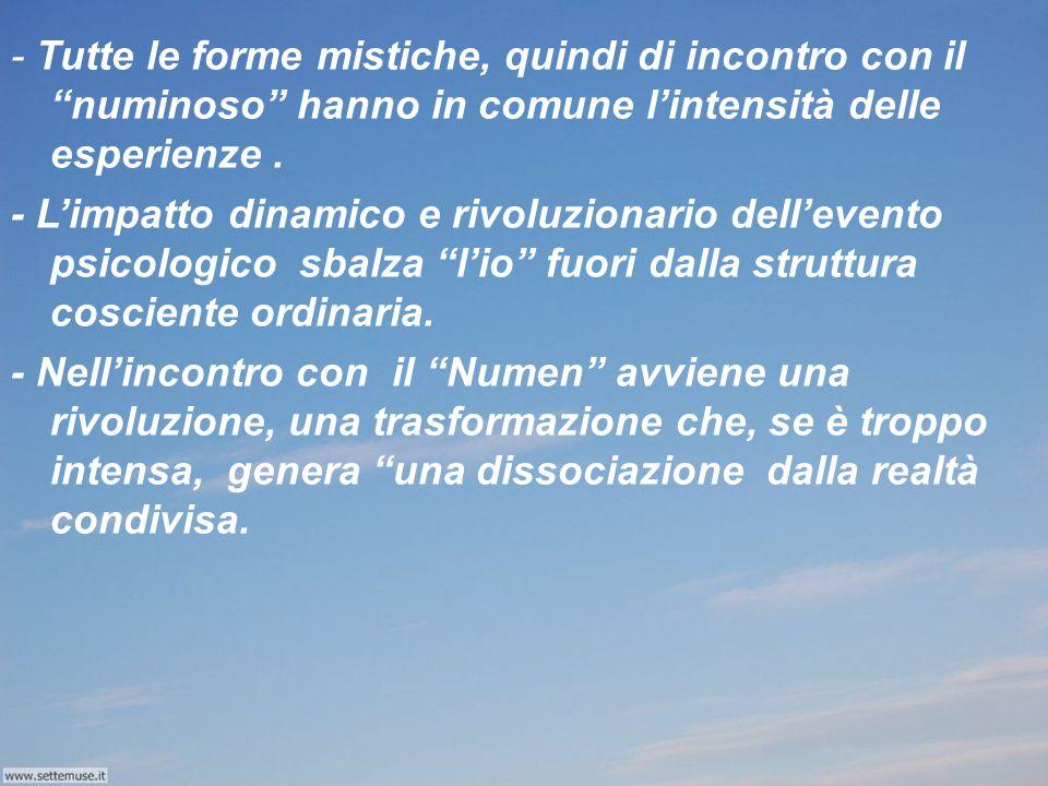 """- Il """"Numinoso"""" è l'antitesi della coscienza. - Il Numinoso è totalmente altro, l'indeterminabile e libero."""