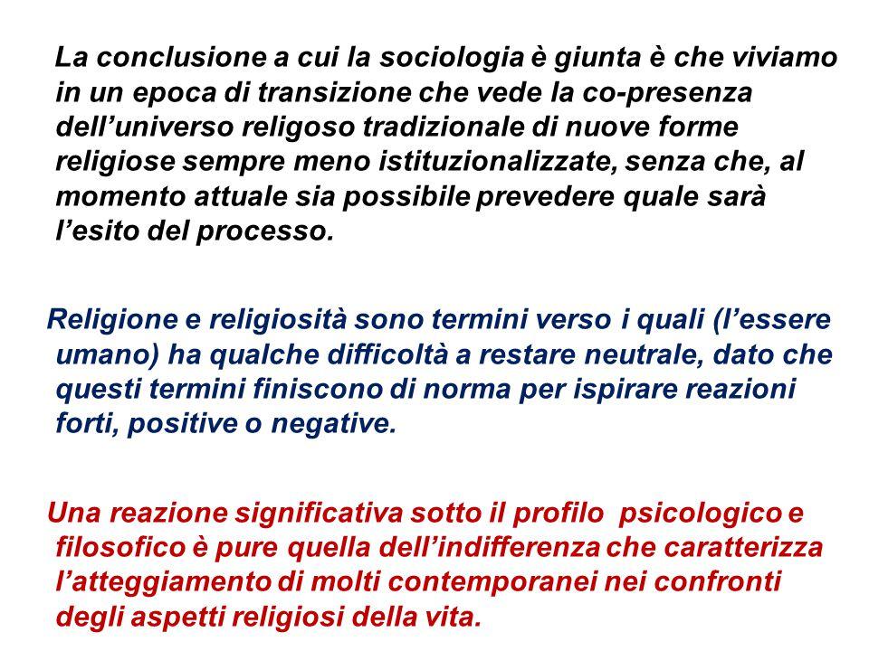 Poichè le religioni sono inscindibili dalla cultura e civiltà che le ha prodotte, nella storia passata e attuale essere religiosi ha significato e sig