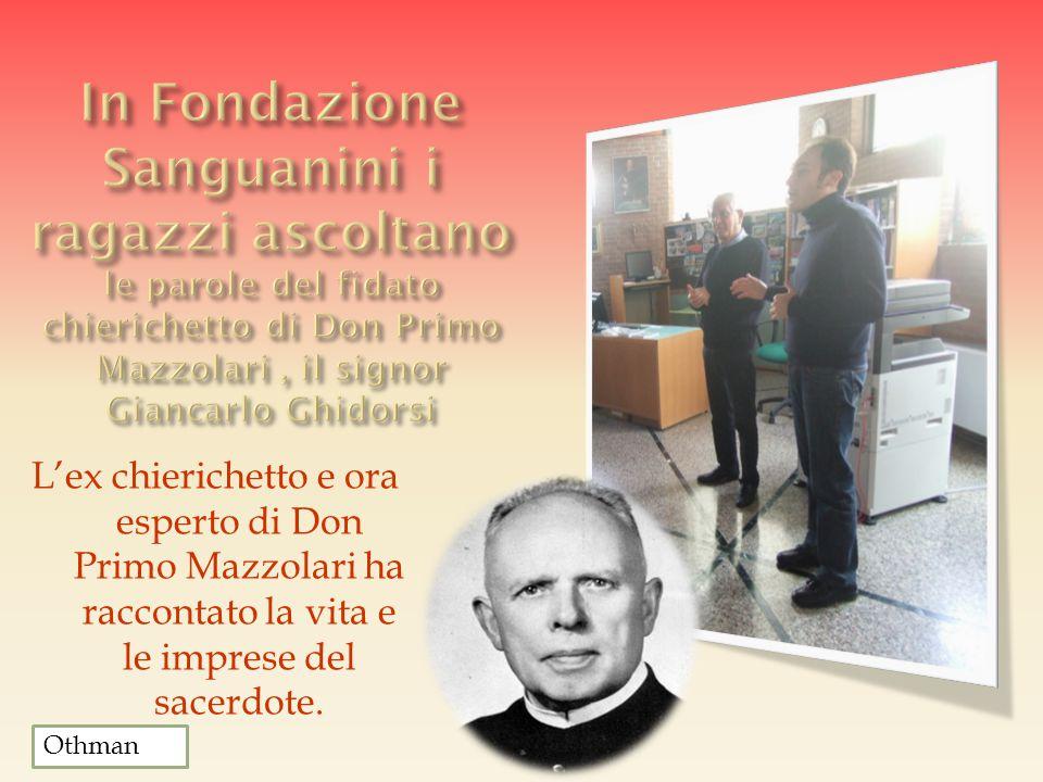 L'ex chierichetto e ora esperto di Don Primo Mazzolari ha raccontato la vita e le imprese del sacerdote. Othman