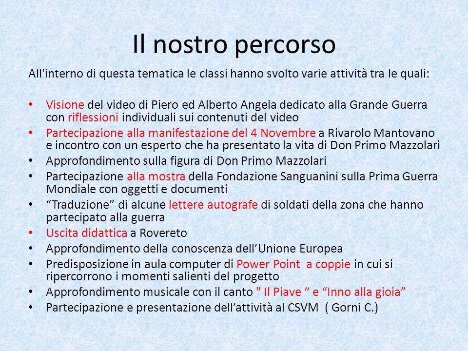 Il nostro percorso All'interno di questa tematica le classi hanno svolto varie attività tra le quali: Visione del video di Piero ed Alberto Angela ded