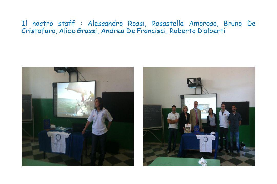 Il nostro staff : Alessandro Rossi, Rosastella Amoroso, Bruno De Cristofaro, Alice Grassi, Andrea De Francisci, Roberto D'alberti
