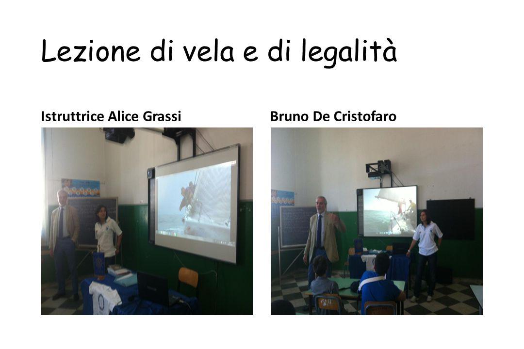 Lezione di vela e di legalità Istruttrice Alice GrassiBruno De Cristofaro