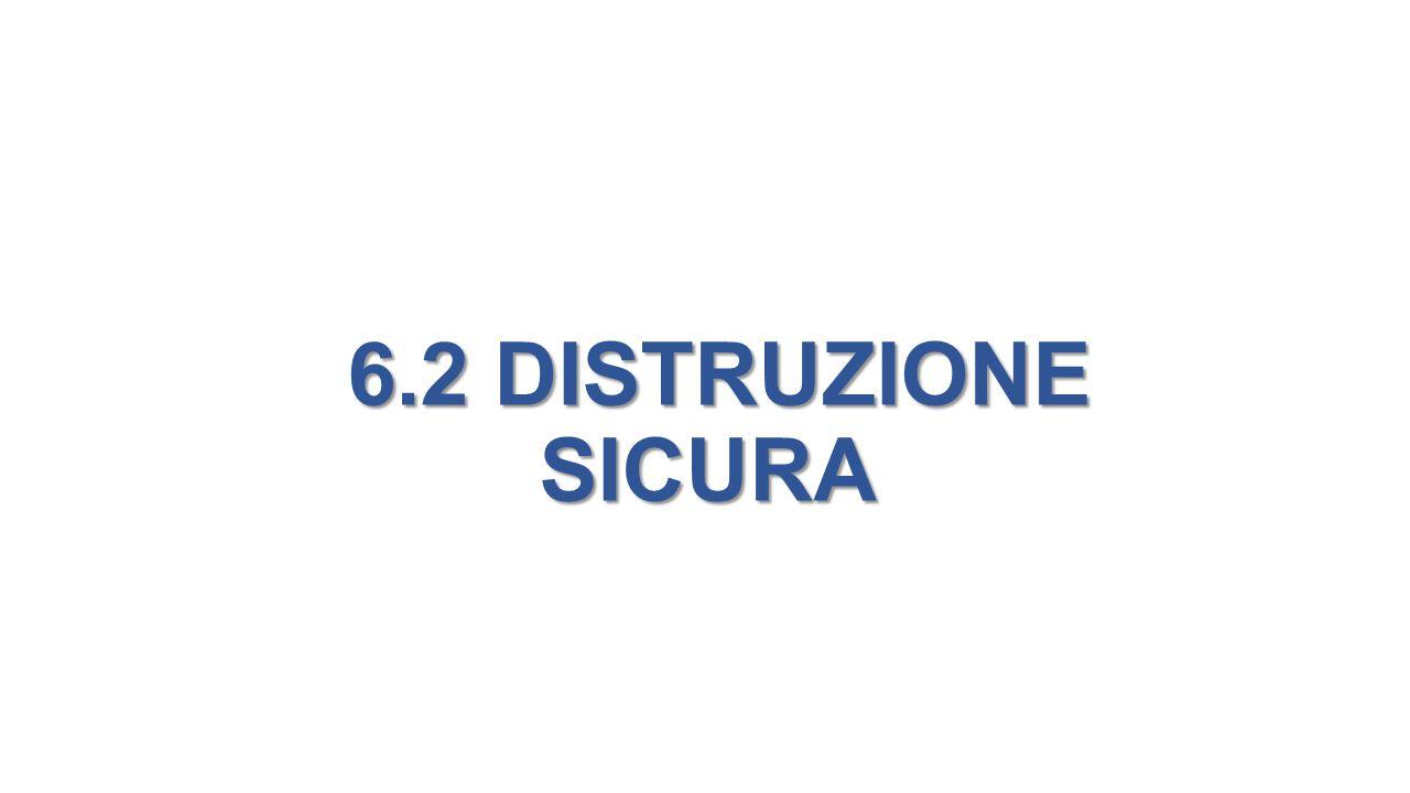 6.2 DISTRUZIONE SICURA 6.2 DISTRUZIONE SICURA