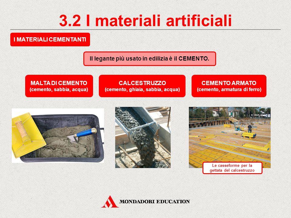 3.1 I materiali artificiali I LATERIZI Sono usati per rifinire le costruzioni. Sono formati da argilla, caolino, leganti e coloranti. LATERIZI PER PAV