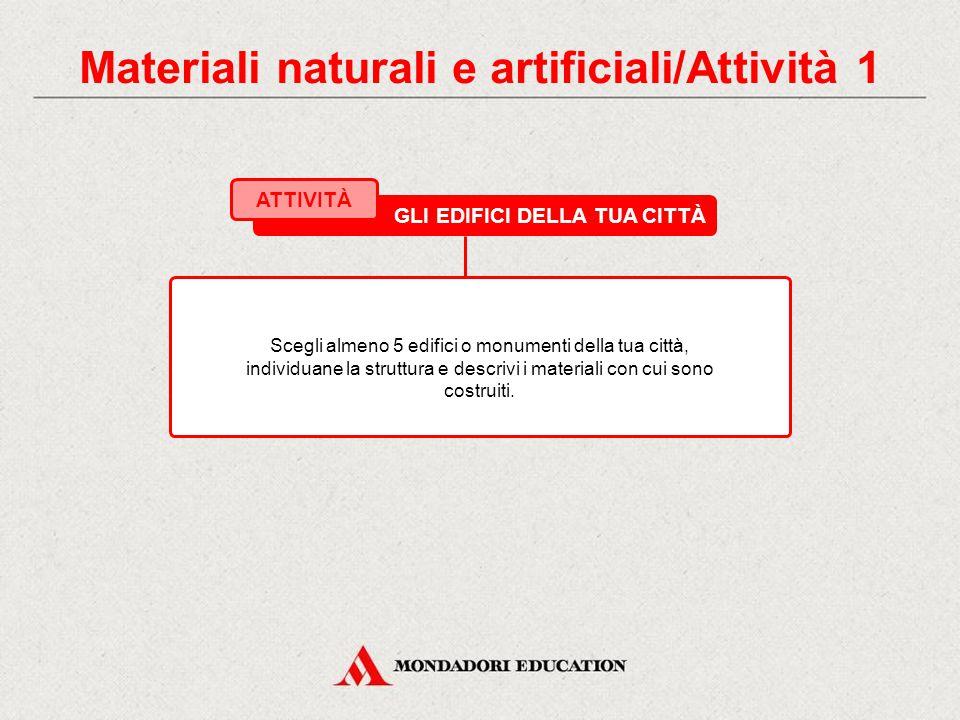 3.2 I materiali artificiali I MATERIALI CEMENTANTI Il legante più usato in edilizia è il CEMENTO. MALTA DI CEMENTO (cemento, sabbia, acqua) CALCESTRUZ