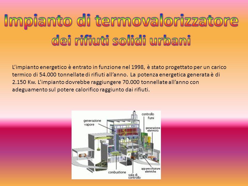 L'impianto energetico è entrato in funzione nel 1998, è stato progettato per un carico termico di 54.000 tonnellate di rifiuti all'anno. La potenza en