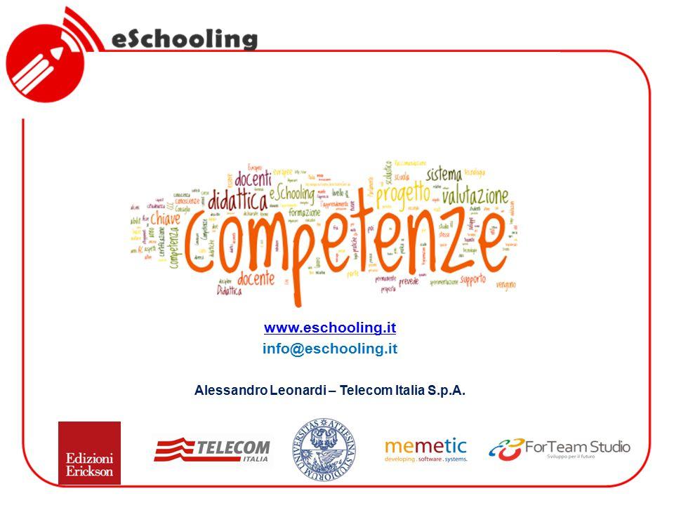 www.eschooling.it info@eschooling.it Alessandro Leonardi – Telecom Italia S.p.A.
