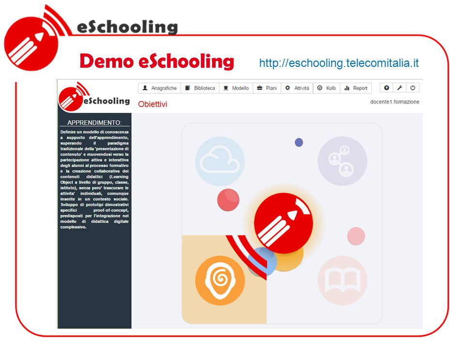 Demo eSchooling http://eschooling.telecomitalia.it