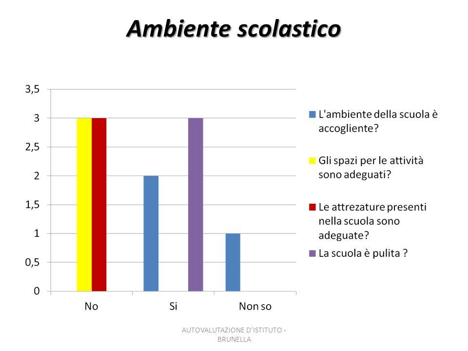 Clima scolastico AUTOVALUTAZIONE D ISTITUTO - BRUNELLA