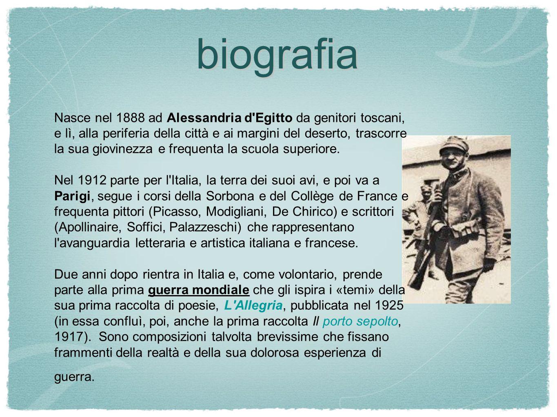 elementi fondamentali da ricordare 1.guerra 2. importanza della parola poetica 3.