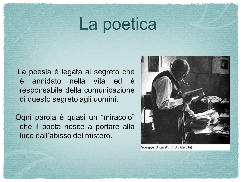 La poesia è legata al segreto che è annidato nella vita ed è responsabile della comunicazione di questo segreto agli uomini.
