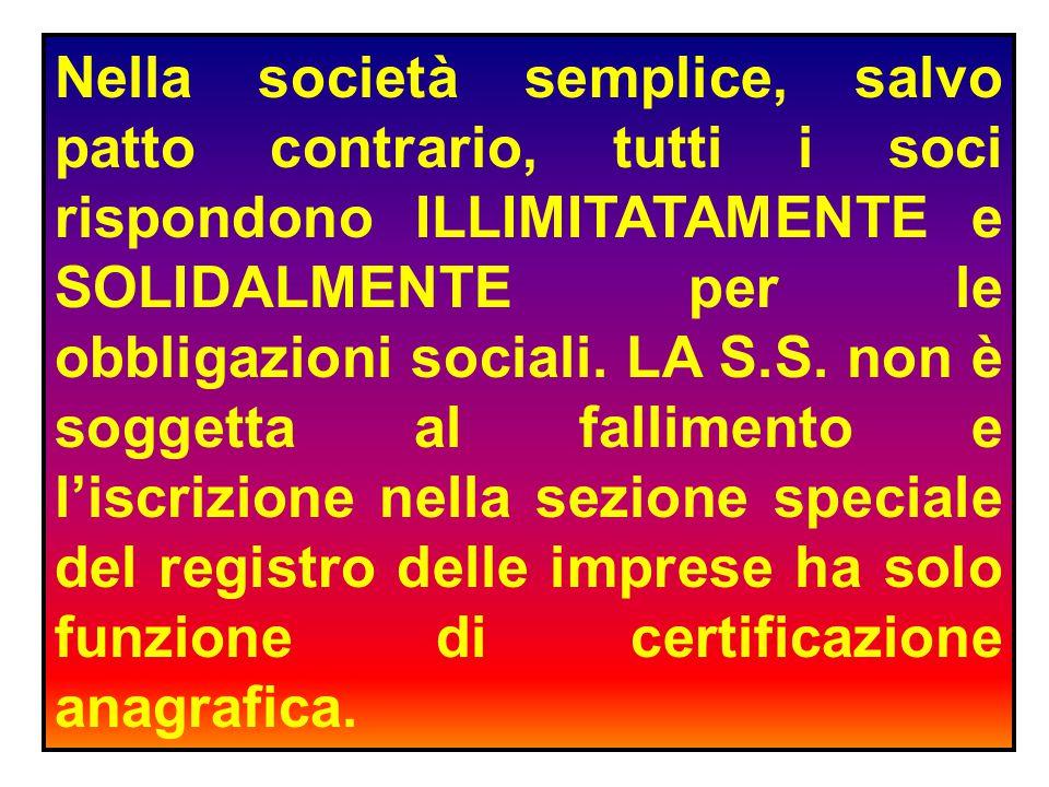 SOCIETA' COMMERCIALI E SOCIETA' NON COMMERCIALI.