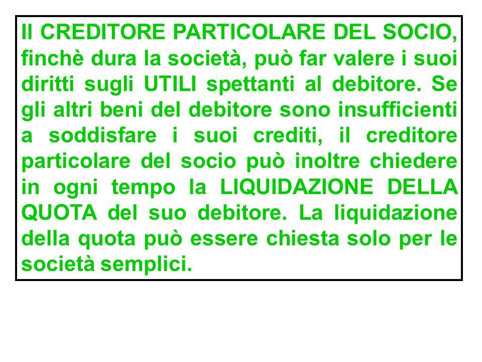 PREVENTIVA ESCUSSIONE DEL PATRIMONIO SOCIALE (escutere significa sottoporre ad esecuzione forzata): il socio richiesto del pagamento dei debiti social