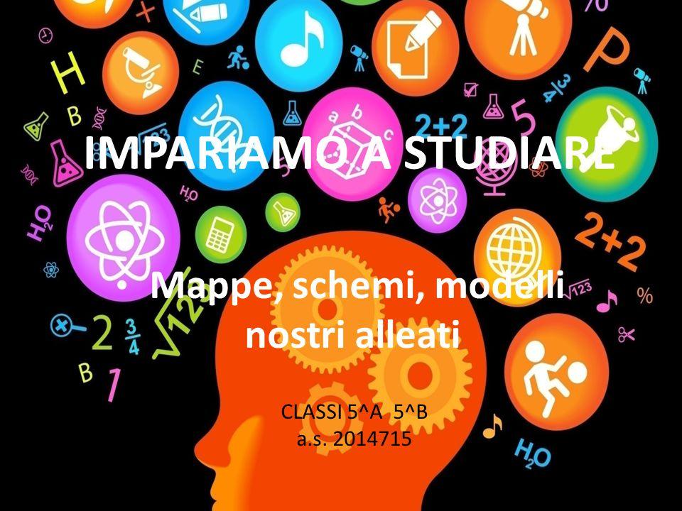 IMPARIAMO A STUDIARE Mappe, schemi, modelli nostri alleati CLASSI 5^A 5^B a.s. 2014715