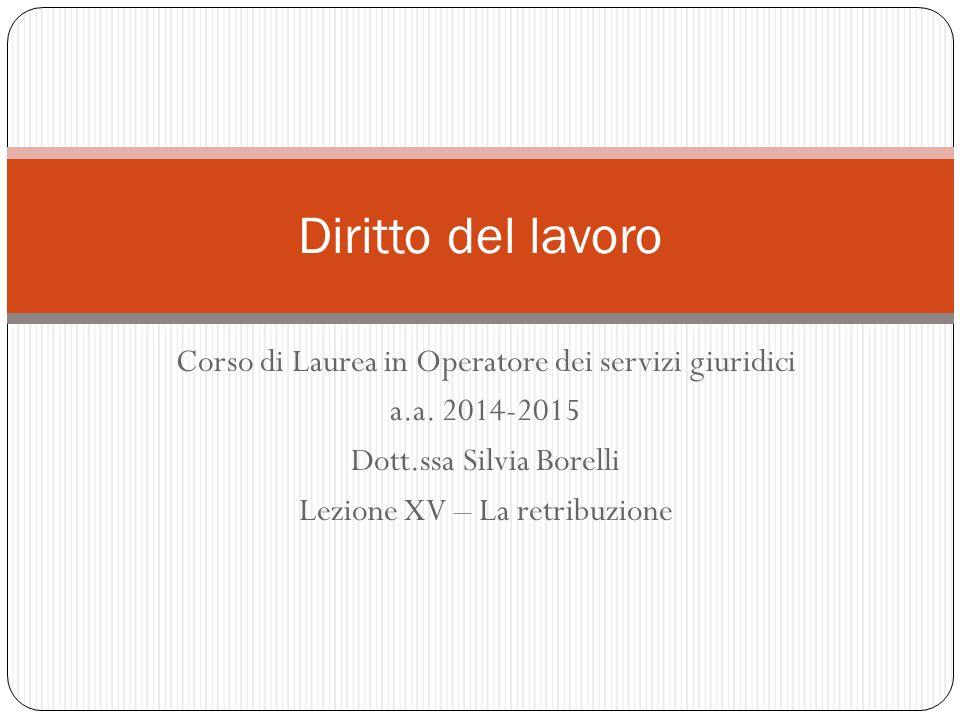 Corso di Laurea in Operatore dei servizi giuridici a.a.