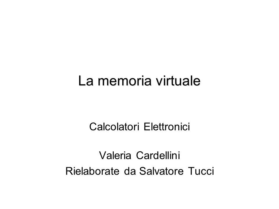 CE - Valeria Cardellini, Salvatore Tucci A.A.2011/12 31 Quale indirizzo per la cache.