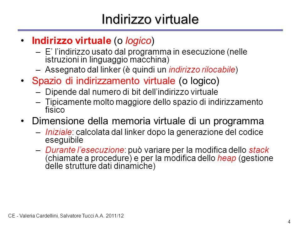 CE - Valeria Cardellini, Salvatore Tucci A.A. 2011/12 25 TLB: traduzione veloce degli indirizzi (3)