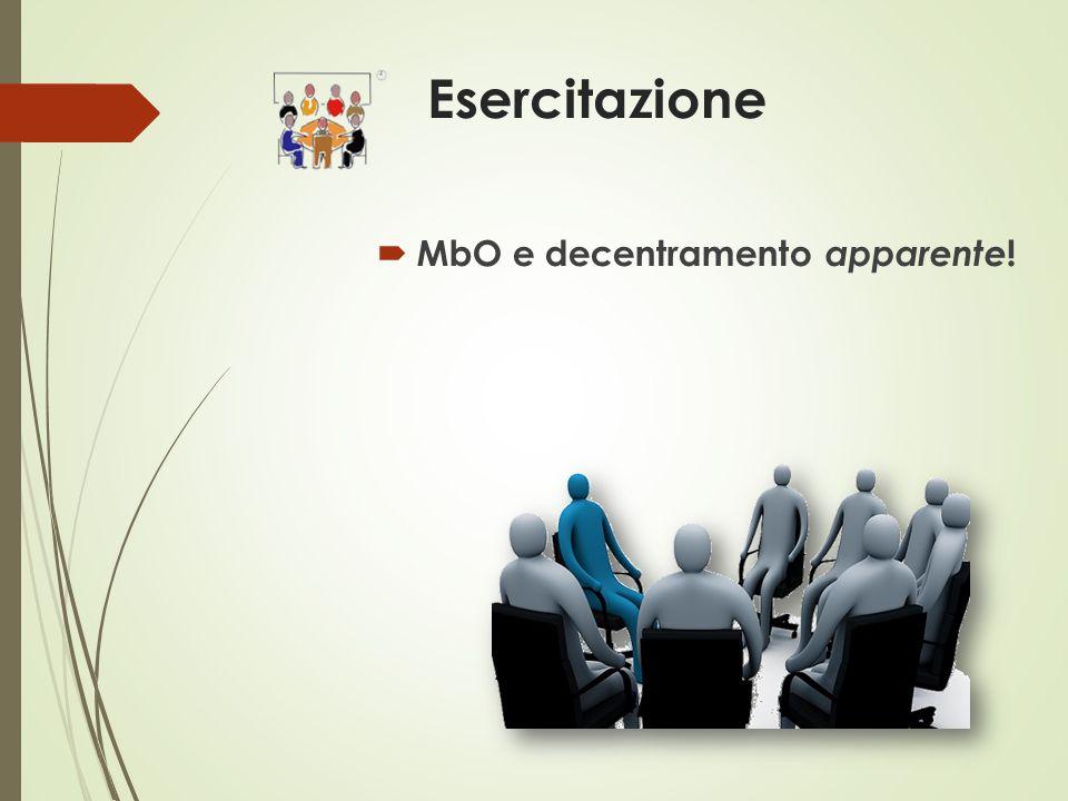 Esercitazione  MbO e decentramento apparente !