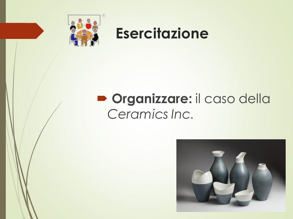 Esercitazione  Organizzare: il caso della Ceramics Inc.