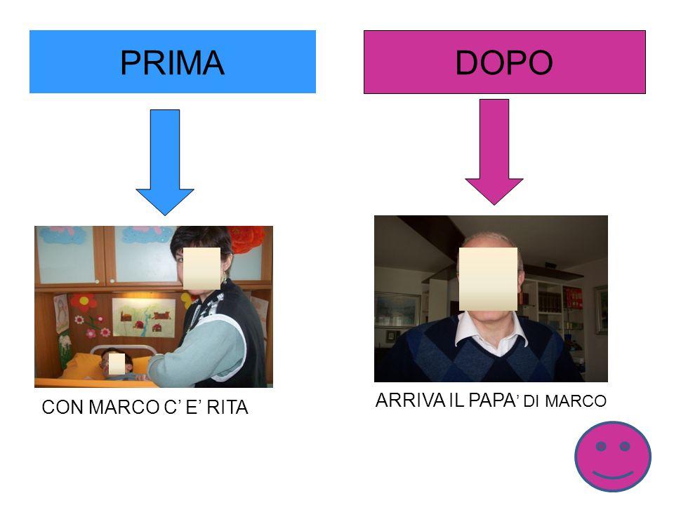 PRIMA DOPO CON MARCO C' E' RITA ARRIVA IL PAPA ' DI MARCO