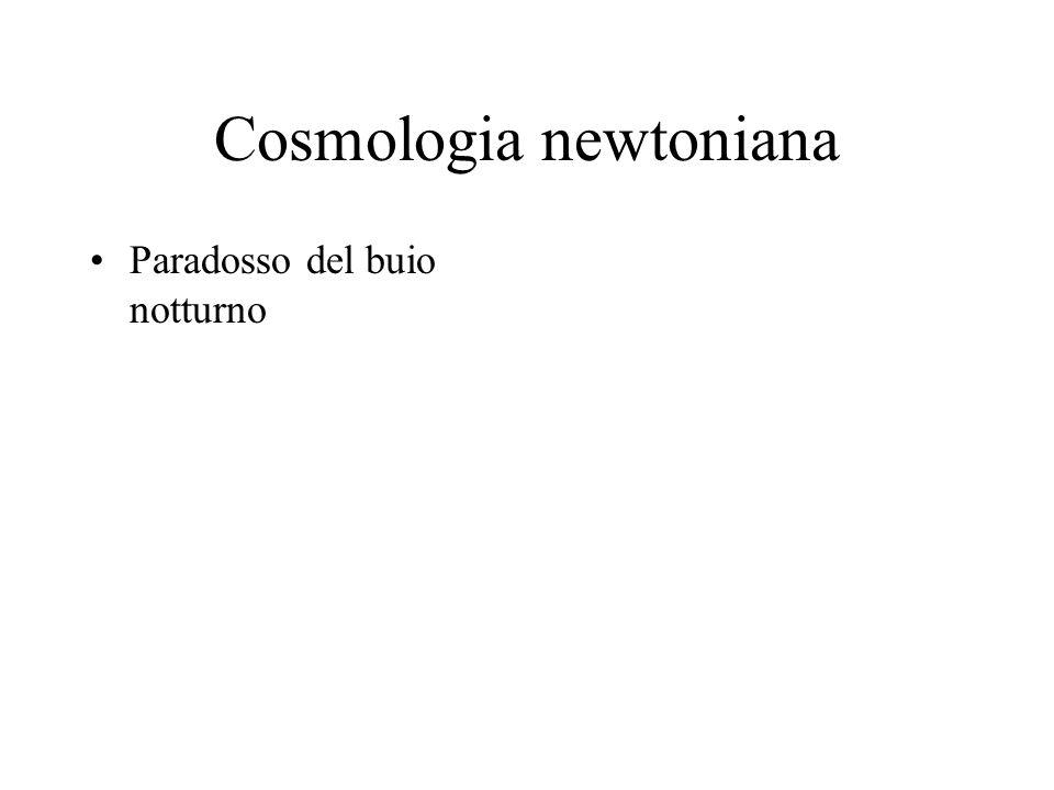Cosmologia newtoniana Paradosso del buio notturno