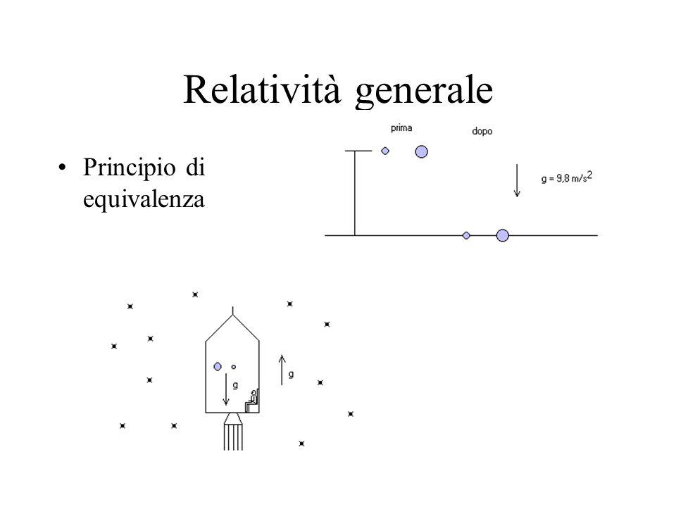 Relatività generale Principio di equivalenza