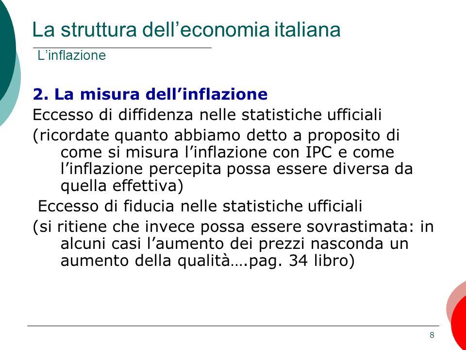 8 2. La misura dell'inflazione Eccesso di diffidenza nelle statistiche ufficiali (ricordate quanto abbiamo detto a proposito di come si misura l'infla