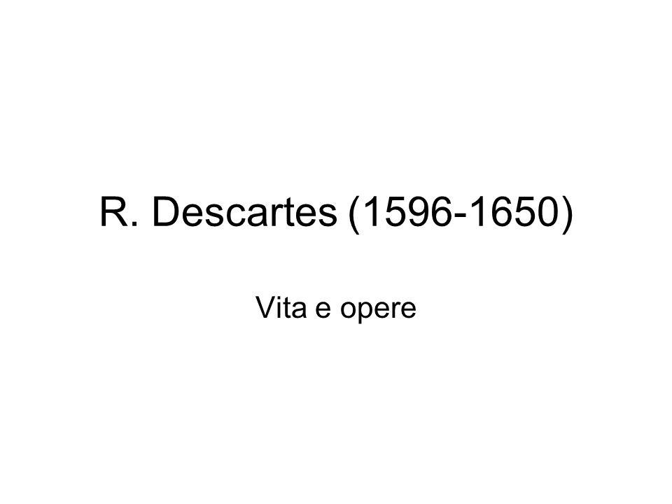 R. Descartes (1596-1650) Vita e opere