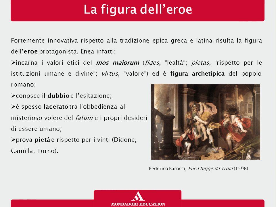 La figura dell'eroe Fortemente innovativa rispetto alla tradizione epica greca e latina risulta la figura dell'eroe protagonista.