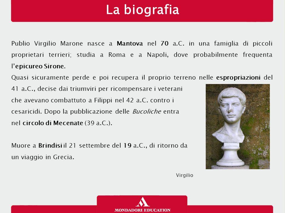 Publio Virgilio Marone nasce a Mantova nel 70 a.C.