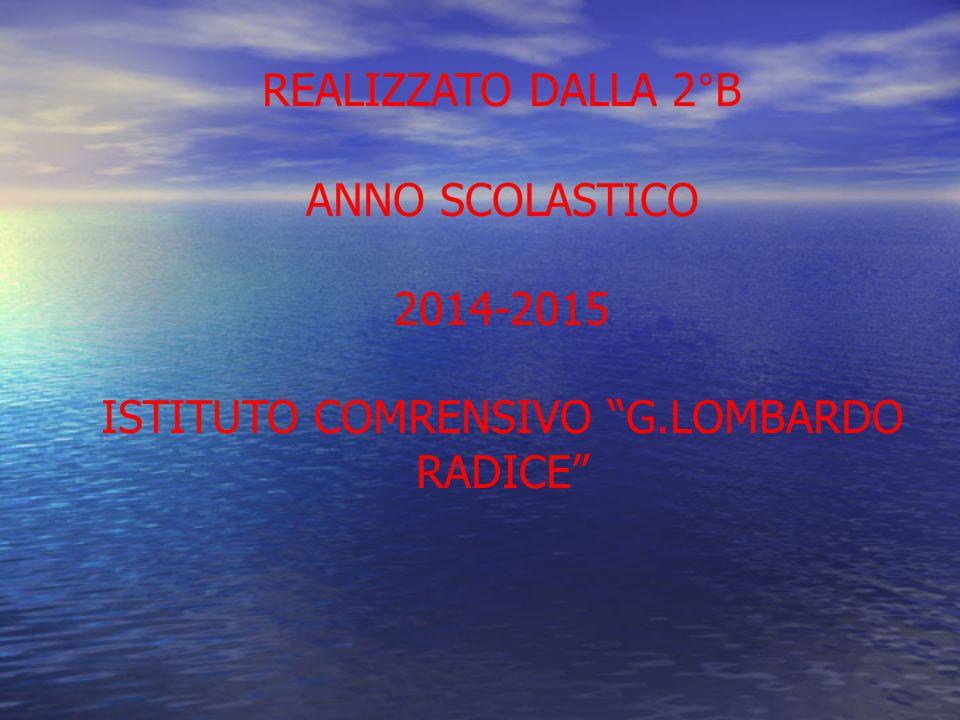 REALIZZATO DALLA 2°B ANNO SCOLASTICO 2014-2015 ISTITUTO COMRENSIVO G.LOMBARDO RADICE