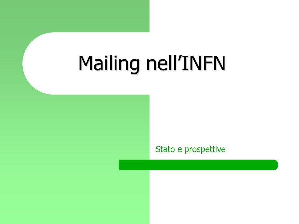 Mailing nell'INFN Stato e prospettive
