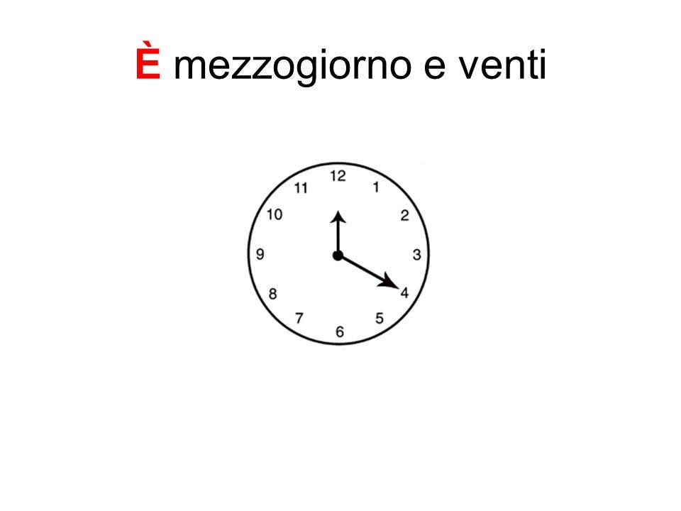 È mezzogiorno e venti