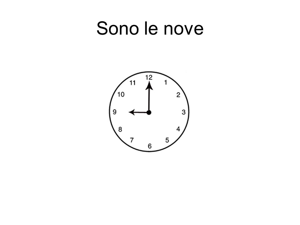 Sono le nove