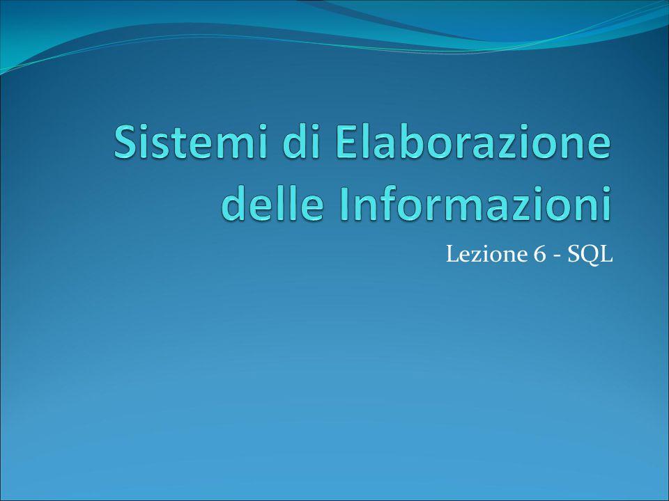 Lezione 6 - SQL