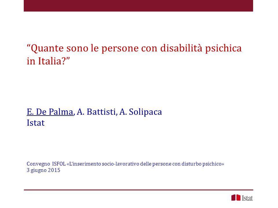 Quante sono le persone con disabilità psichica in Italia? E.