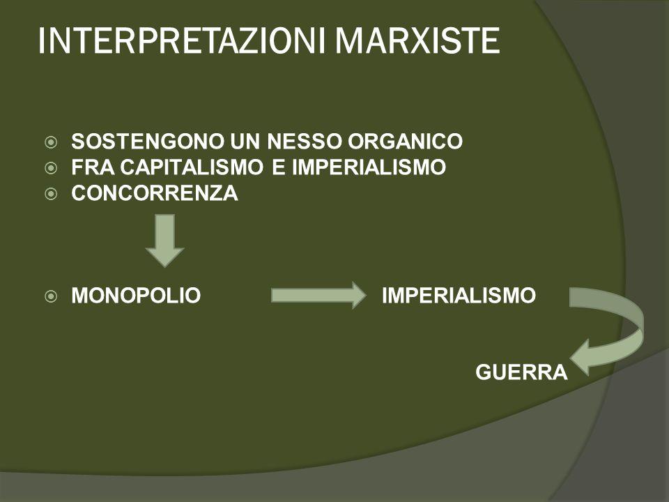 INTERPRETAZIONE TEORICI DELLA RAGION DI STATO  L'unico modo per eliminare alla radice l'imperialismo, così come più in generale le guerre, è il superamento dell'anarchia internazionale.