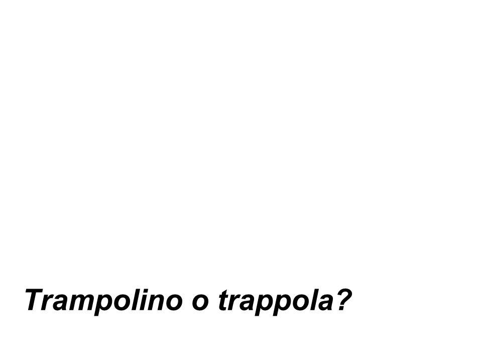 Trampolino o trappola?